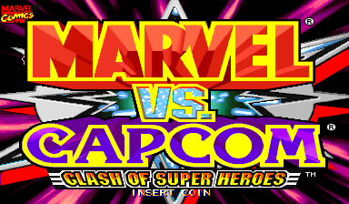 Marvel Vs. Capcom: Clash of Super Heroes (Japan 980112) Title Screen