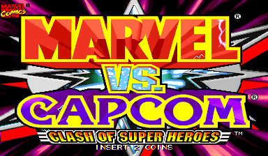 Marvel Vs. Capcom: Clash of Super Heroes (Euro 980112) Title Screen