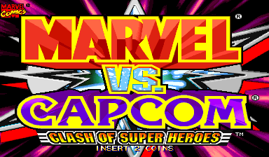 Marvel Vs. Capcom: Clash of Super Heroes (USA 980123) Title Screen
