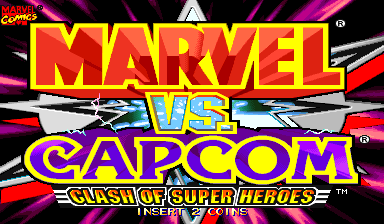 Marvel Vs. Capcom: Clash of Super Heroes (USA 971222) Title Screen