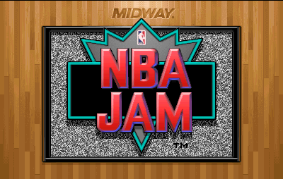 NBA Jam (rev 3.01 04/07/93) Title Screen