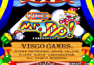 Neo Mr. Do! Title Screen