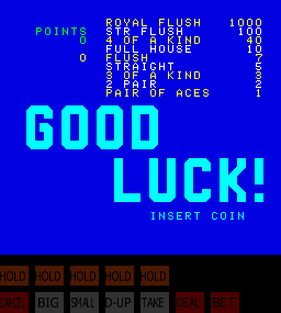 Jack Potten's Poker (NGold, set 1) Title Screen