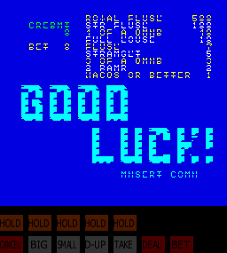 Jack Potten's Poker (NGold, set 3) Title Screen