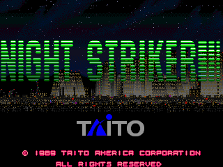 Night Striker (US) Title Screen