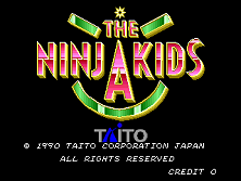The Ninja Kids (World) Title Screen