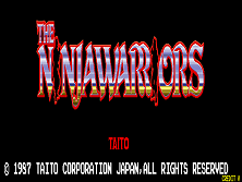 The Ninja Warriors (World) Title Screen