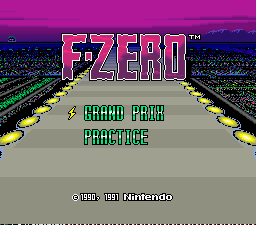 F-Zero (Nintendo Super System) Title Screen