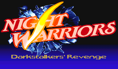 Night Warriors: Darkstalkers' Revenge (USA 950406 Phoenix Edition) (bootleg) Title Screen