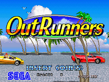 OutRunners (World) Title Screen