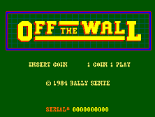 Off the Wall (Sente) Title Screen
