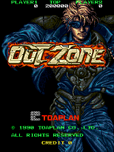 Out Zone Title Screen