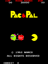 Pac & Pal Title Screen