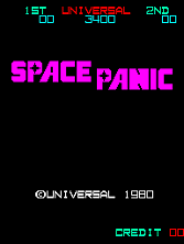 Space Panic (version E) Title Screen