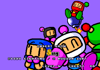 Panic Bomber Title Screen