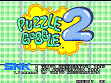Puzzle Bobble 2 / Bust-A-Move Again (Neo-Geo) Title Screen