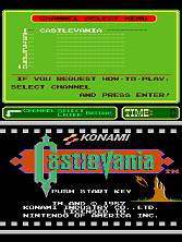 Castlevania (PlayChoice-10) Title Screen