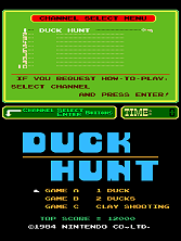 Duck Hunt (PlayChoice-10) Title Screen