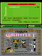 Gauntlet (PlayChoice-10) Title Screen