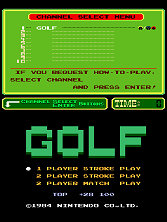 Golf (PlayChoice-10) Title Screen