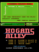 Hogan's Alley (PlayChoice-10) Title Screen