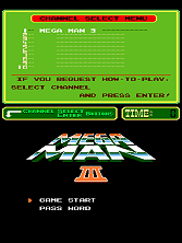 Mega Man III (PlayChoice-10) Title Screen
