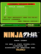 Ninja Gaiden (PlayChoice-10) Title Screen