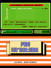 Pro Wrestling (PlayChoice-10) Title Screen