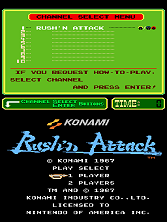 Rush'n Attack (PlayChoice-10) Title Screen