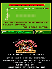 Chip'n Dale: Rescue Rangers (PlayChoice-10) Title Screen