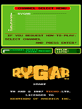 Rygar (PlayChoice-10) Title Screen