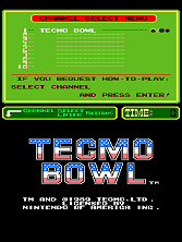 Tecmo Bowl (PlayChoice-10) Title Screen