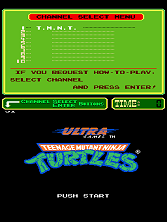 Teenage Mutant Ninja Turtles (PlayChoice-10) Title Screen