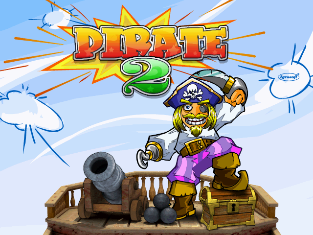 Pirate 2 (bootleg, 061005, banking address hack, changed version text set 3) Title Screen