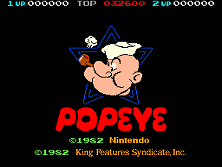 Popeye (revision D) Title Screen