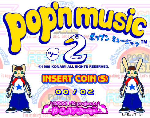 Pop'n Music 2 (ver JA-A) Title Screen