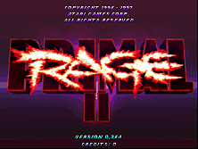 Primal Rage 2 (Ver 0.36a) Title Screen