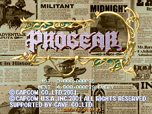 Progear (USA 010117) Title Screen