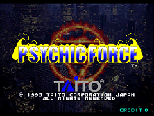 Psychic Force (Ver 2.4O) Title Screen