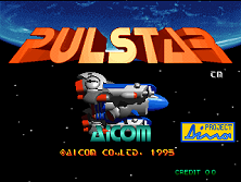 Pulstar Title Screen