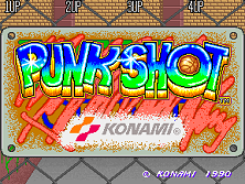 Punk Shot (US 4 Players) Title Screen