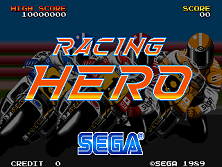 Racing Hero (FD1094 317-0144) Title Screen