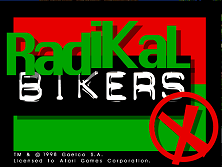 Radikal Bikers (Version 2.02) Title Screen