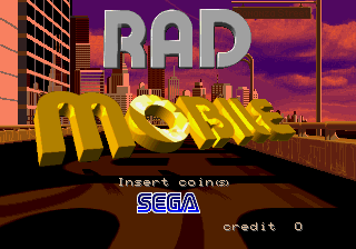 Rad Mobile (World) Title Screen