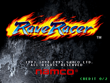 Rave Racer (Rev. RV2, World) Title Screen