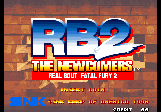 Real Bout Fatal Fury 2: The Newcomers / Real Bout Garous Densetsu 2: The Newcomers (Set 1) Title Screen