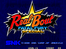 Real Bout Fatal Fury Special / Real Bout Garou Densetsu Special Title Screen