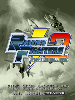 Raiden Fighters 2 - Operation Hell Dive (US) Title Screen