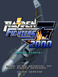 Raiden Fighters Jet 2000 (China, SYS386I) Title Screen