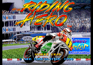Riding Hero (NGM-006 ~ NGH-006) Title Screen